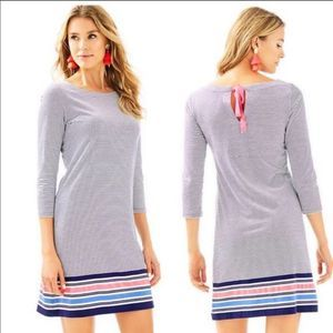 Lilly Pulitzer Noelle Navy White Striped Dress XS